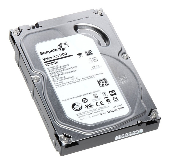 Hd Seagate Desktop / Dvr 2tb 2000gb 64mb Sata3 6gb/s 5900rpm