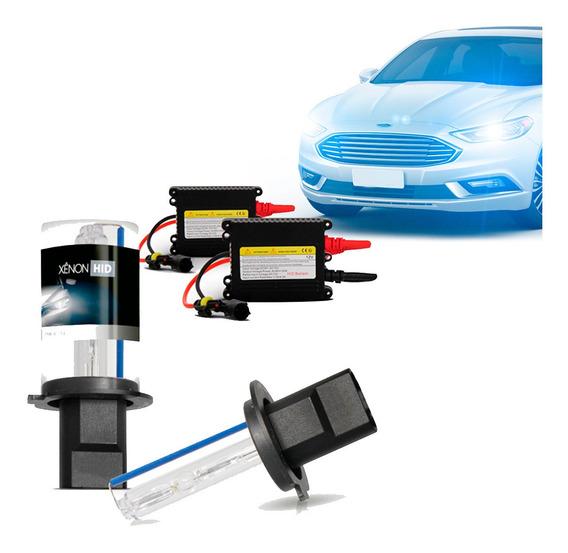 Kit Xênon Completo Automotivo H27 10000k Branco Azulado