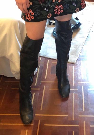Botas Maria Cher Bucaneras Cuero Real Talle 39