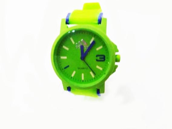 Relógio Analógico Masculino Feminino Verde E Azul
