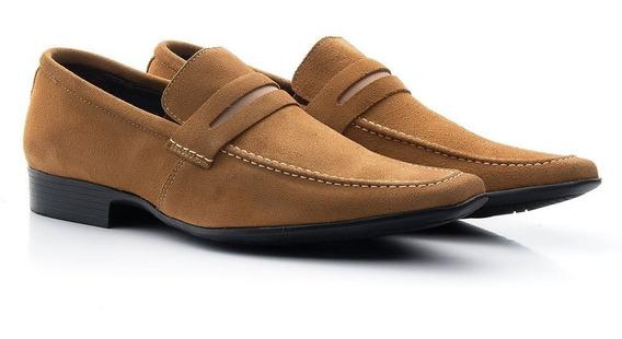 Sapato Social Em Couro Camurça Masculino Confortável