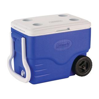 Caixa Térmica Azul De 38 Litros Com Rodas 40qt Coleman