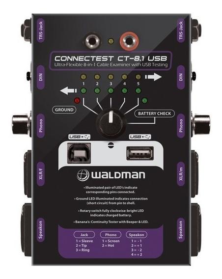 Testador De Cabo Waldman Ct 8.1 Usb, Rca, Xlr, P10 -original