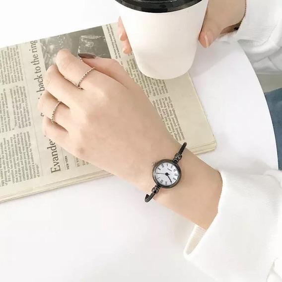 Relógio Feminino Pequeno Delicado Fashion Casual Com Caixa