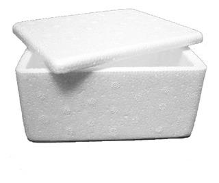 Caixa Isopor Pequena 500g - 6 Unidades 14,5x12x8a