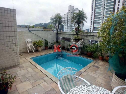 Imagem 1 de 17 de Cobertura Com 3 Dormitórios À Venda, 275 M² Por R$ 1.800.000,00 - Gonzaga - Santos/sp - Co0083