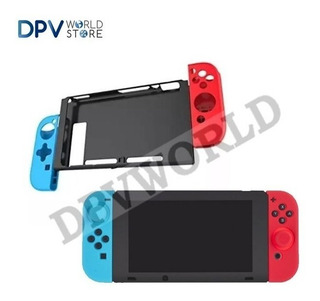 Kit Estuche Nintendo Switch Protector Silicona Consola Y Bot
