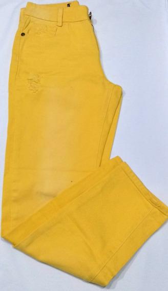 Calça Sarja Feminina Amarela!! Nova