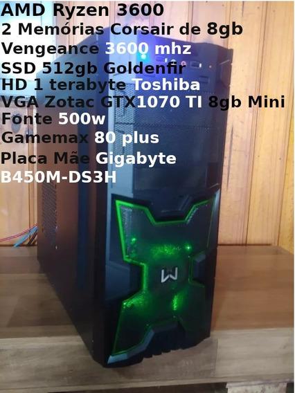 Pc Gamer Ryzen 3600+gtx 1070ti+16gb 3600mhz+ssd 512gb