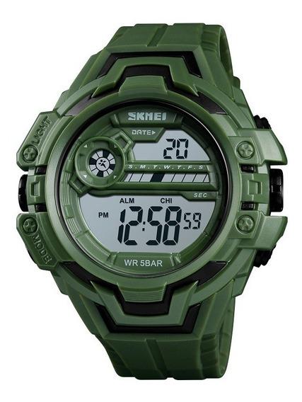Reloj Tipo Militar Digital A Prueba De Agua Skmei 1383