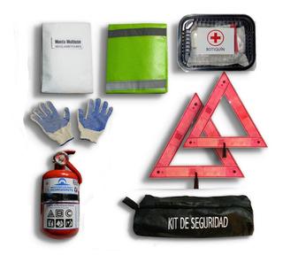 Kit De Seguridad Auto Premium Matafuegos 8 En 1 Vtv Reglamentario