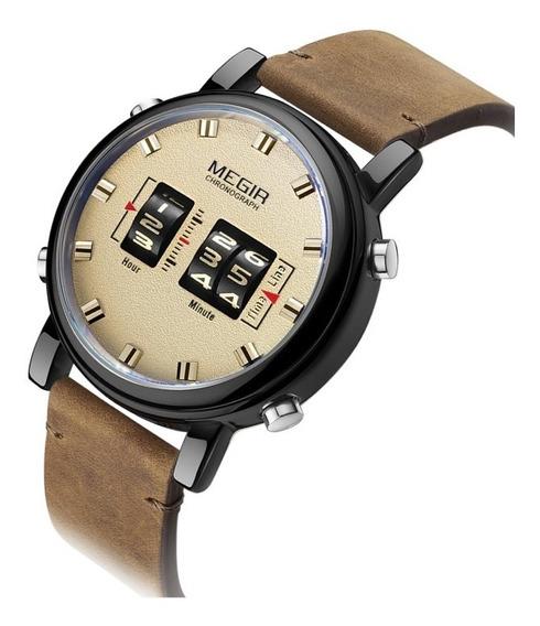 Reloj Para Hombre Moderno Megir Original Moda 2137g Cafe