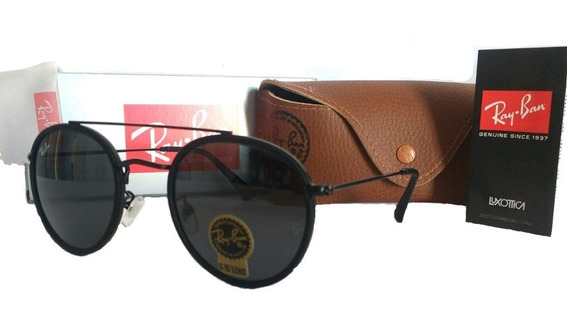 Oculos De Sol Double Bridge Flat Cristal Unissex Promoção