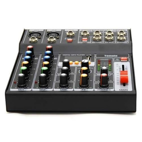 Mesa De Som Usb Mixer Mp3 Player Digital 7 Canais Bluetooth