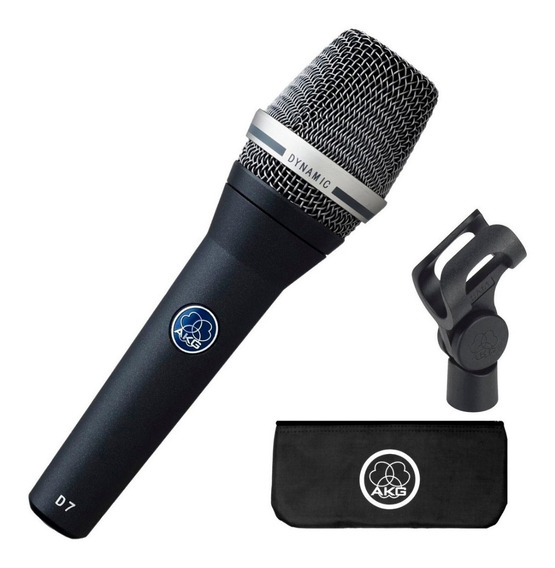 Microfone Akg D7 Vocal Supercardióide Dinâmico