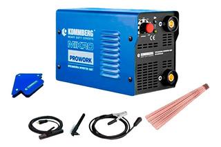 Soldadora Inverter Kommberg 220 Amp Soporte Electrodos 1 Kg