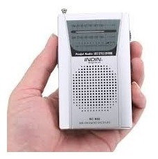 Rádio Receptor Indin Bc-r60 Am/fm Cor Prata Pocket Barato