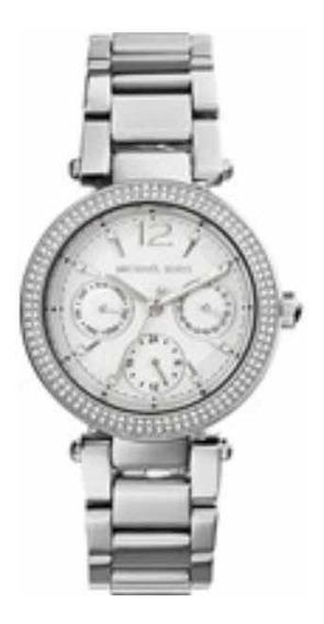 Relógio Michael Kors Mk6350 Feminino Mini Parker Prata