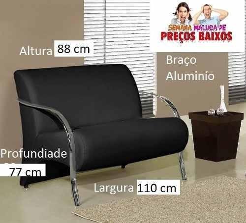 Poltrona Cadeira 2 Lugares Apto. Clinica Decoraçao Recep Mar