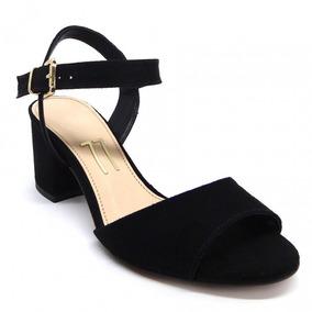 24b16ef75 Sandalia Salto Grosso Baixa Feminino - Sapatos no Mercado Livre Brasil