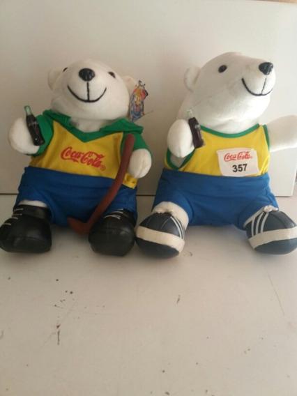 2 Ursos De Pelucia Esportistas Da Coca Cola Aj