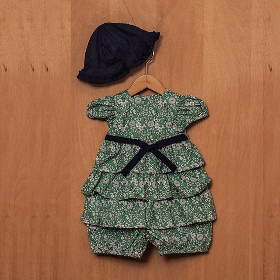 Vestido Pimpão Bebê Floral Tricoline By Tililique