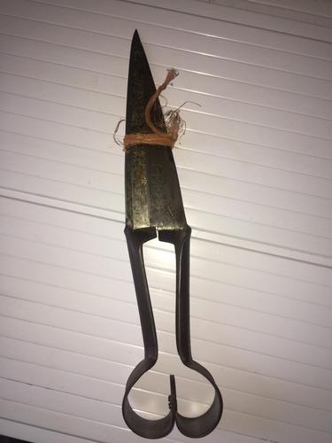 Imagen 1 de 6 de Tijera De Esquilar Inglesa Ideal Usó O Hoja Para Cuchillos