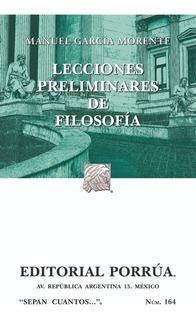 Libro Lecciones Preliminares De Filosofía García Morente