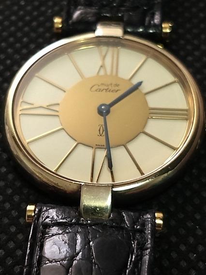 Relogio Cartier Prata Ouro Original