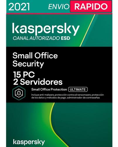 Kaspersky Small Office Security 1 Servidor + 15 Pcs 1 Año