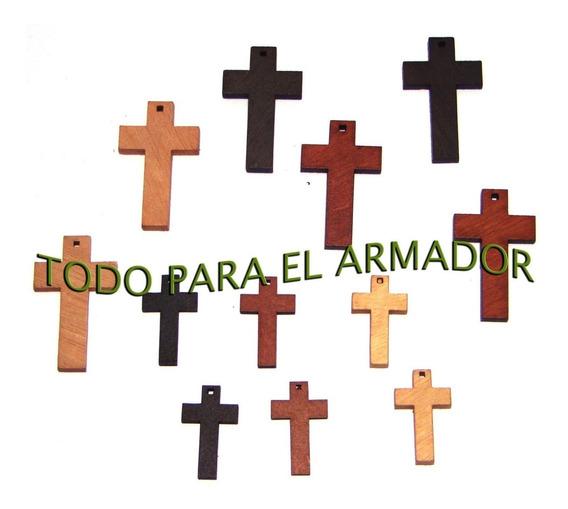 100 Unids De Cruces Cruz De Madera Santeria Para Rosarios