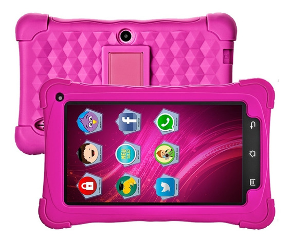 Tablet Kids 8gb Rosa Android 7.1 Tela 7 8gb 2mp Mondial