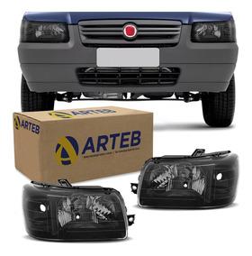 Farol Fiat Uno 2004 A 2014 Masc Negra Arteb Preto