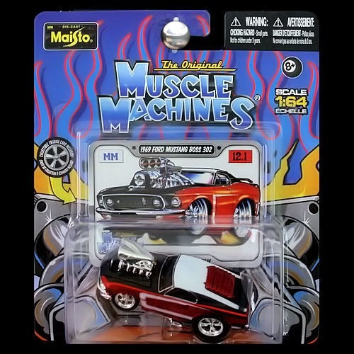 Ford Mustang Boss 302 1969 Esc1 :64 Maisto Muscle Machine
