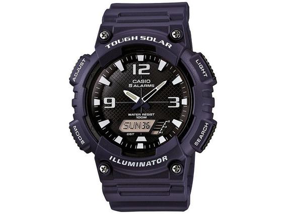 Relógio Casio Masculino Anadigi Azul Aqs810w2a2vdfu