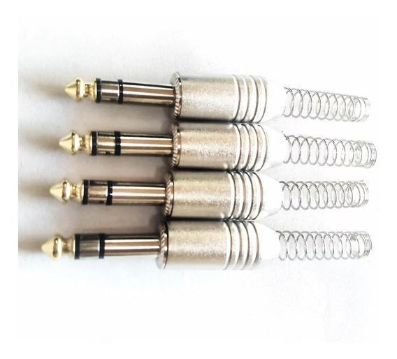 Plug P10st Metal Csr - Kit Com 4 Peças- Oferta- I9som