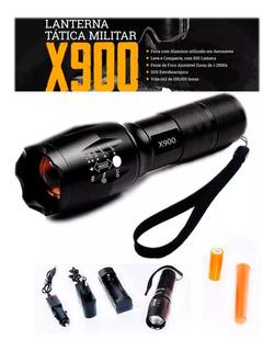 Lanterna Tática Militar X900 Bombeiro Acampamento