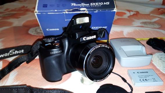 Camera Canon Full Hd 1080p Pw Shot Sx510hs Wifi Profissional