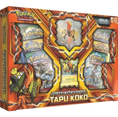 Card Game Pokémon Tcg Box Sol E Lua Tapu Koko Lacrada Copag