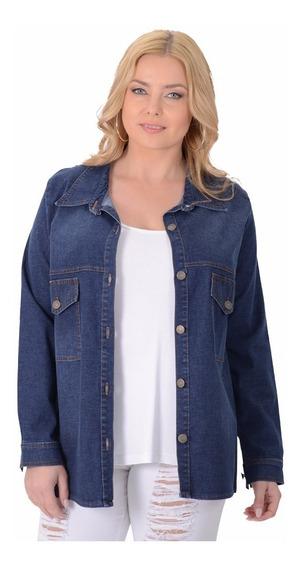 Camisa Portofem De Jean C/ Spandex. Talles Grandes