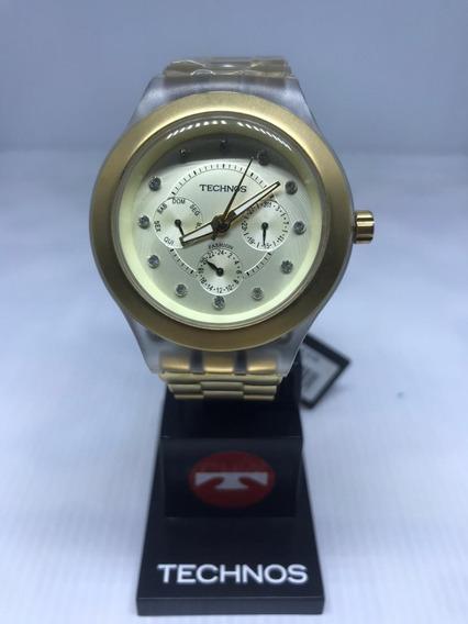 Relógio Technos Feminino Dourado 6p29bh/4x Estilo Swatch