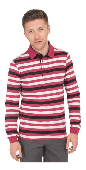 Chomba/ Polo Rayado Manga Larga Slim Fit Wood Howard.