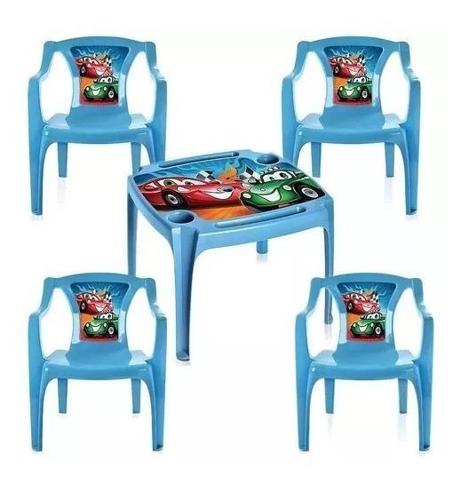 Mesa Infantil 4 Cadeiras Porta Copos Lápis Personalizada