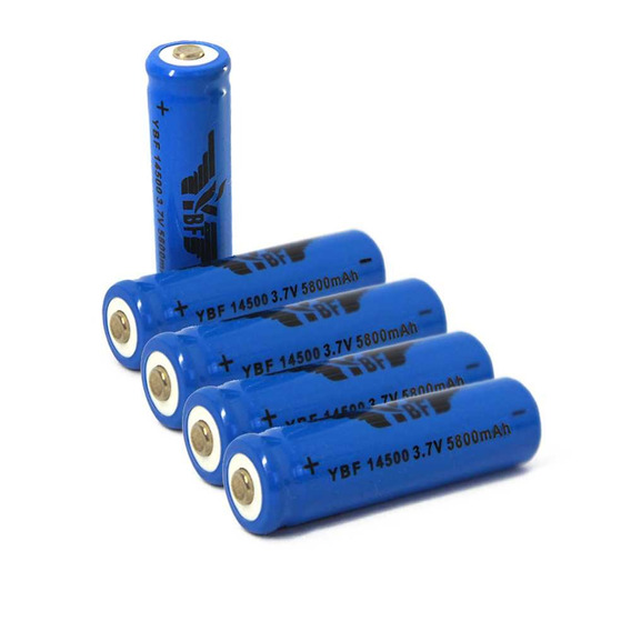 4 Bateria Recarregável Li-ion 14500 5200mah 3,7v - Unidade