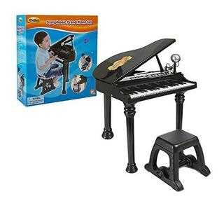 Piano De Cola Electronico Con Microfono Desmontable Y Teclas