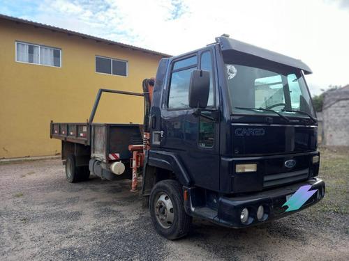 Ford Cargo 815e Munck E Basculante 79mil Km Unico Dono