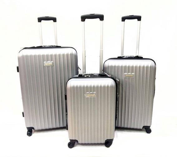 Juego - Set Maletas X3 Viaje Hard Case Grande+median+pequeña