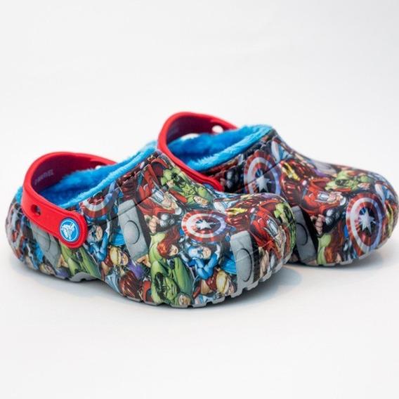 Crocs Originales Funlab Lined Avengers Kids Navy