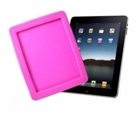 Capa Case Tpu De Silicone Para iPad Rosa Escuro A1854