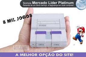 Super Nintendo 8 Mil Jogos. 2 Cntrs N64+ Ps1 + Nf.
